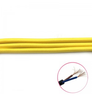 cable trenzado tela 2x0.75mm( vender a metro)  AMARILLO