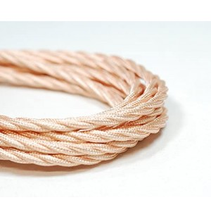 cable trenzado EXTIL tela 2x0.75mm( vender a metro)  COBRE