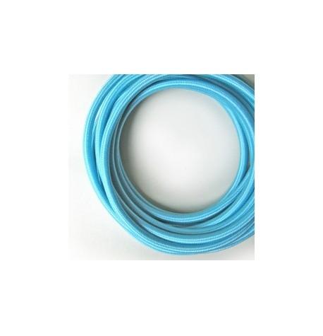 cable trenzado tela 2x0.75mm( venda por metro)   azul