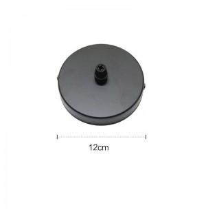 lampara colgante base de techo  negro