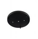 lampara colgante base de techo  negro de 3