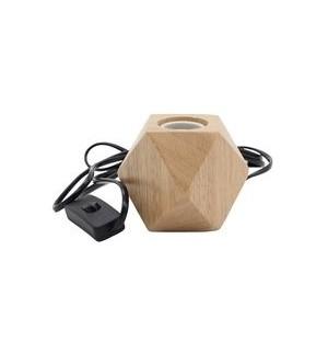 lampara de mesa  madera  Polígono  portalampara E27