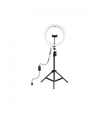 Lámpara de belleza  Lámparas de pie con soporte para teléfono  regulable  con mando  375cm 2700-6500k