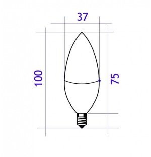 bombilla led c37   7w e14  560lumen