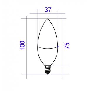 BOMBILLA LED  C37  9W E14   720LUMEN