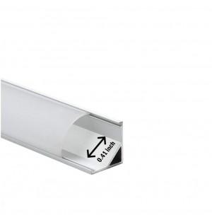 perfil aluminio  anguro  para tira led  2metros