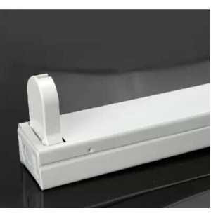 Regleta De Aluminio Para Tubo Led T8 120CM 1X18W