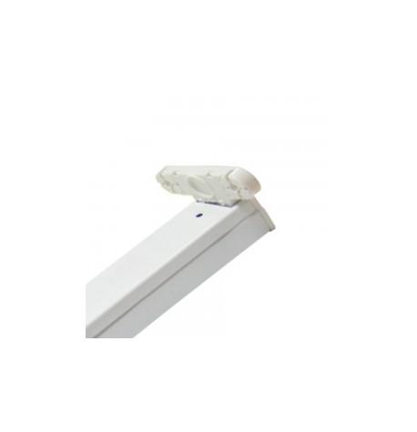Regleta De Aluminio Para Tubo Led T8 60CM 2X9W