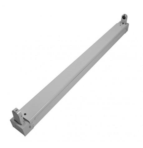 Regleta De Aluminio Para Tubo Led T8 60CM 1X9W