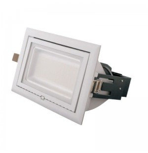 FOCO EMPOTRADO DE PARED RECTANGULAR 40W
