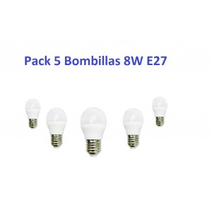 Pack 5 Bombilla Led 8W E27