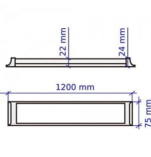 Plafon Fluorescente Led 230V 36W
