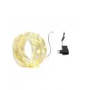 Cadena de luz led corriente 10M Exterior