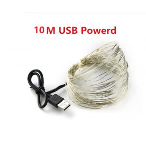 Cadena de luz led USB 10M Exterior
